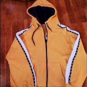 PINK:: yellow hoodie